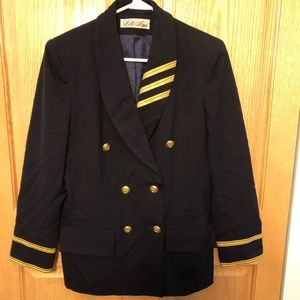 LILLI ANN Vintage 80's blazer women's Med nautical